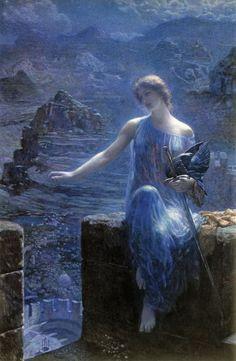 The Valkyrie's Vigil - Edward Robert Hughes