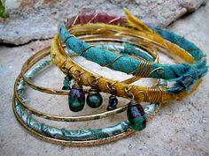 Bohemian Bracelet / Gypsy Jewelry / Gypsy Bangles door Syrena56