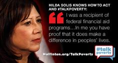 Solis shares personal story 2 #talkpoverty. @WhiteHouse, please talk solutions at #SOTU @AFSCME @SEIU @AFL  Click the image to tweet and RT!
