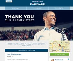 Obama post-election day site homepage