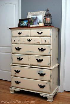 Antique Chalk Painted Dresser