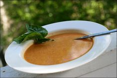 Tomato, Basil, and Cheddar Soup ( uses Greek Yogurt Instead of Cream)