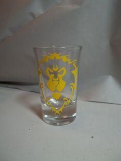 World of Warcraft Alliance Shot Glass by TheCraftyGeek86 on Etsy, $6.00