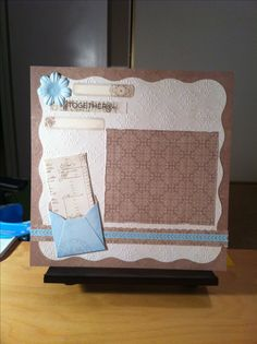 memori scrapbook, creativ memori, scallop pattern, scrapbook layout, creative memories vintage chic