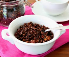 Low Carb Chocolate Granola Recipe | All Day I Dream About Food