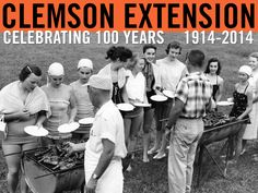 "Nothing says ""picnic"" in the Carolinas like a good ol' southern BBQ! Photo courtesy of Clemson University Library Archives. #ClemsonExt100"