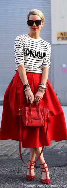 AtlantaPacific | Sweater: ASOS, Skirt: Tibi, Shoes: Valentino, Bag: Celine