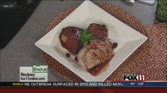 Cranberry Pork Chops recipe from WLUK FOX 11 Good Day Wisconsin Cooking with Amy Hanten. Full #recipe: http://www.fox11online.com/good-day-wi/recipes/cranberry-pork-chops-festival #recipes #video