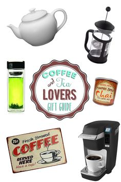 Gift ideas for tea or coffee drinkers!! Great gifts especially for people you don't know very well.