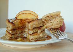 Cinnamon Peach Pancakes - buttermilk pancakes made better with the addition of fresh peaches and cinnamon. A breakfast treat everyone's sure to enjoy!