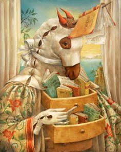 Special librarian, wizard of reading / Bibliotecario especial, mago de la lectura  (ilustración de Agnes Boulloche)