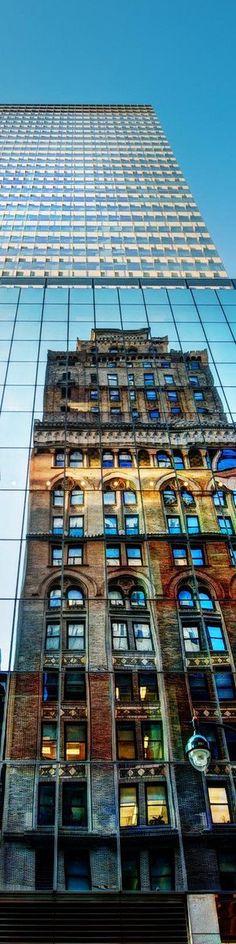 new york ...glass windows...reflection