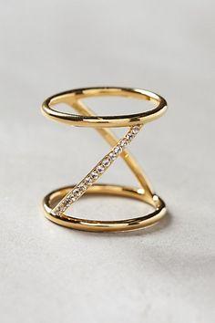 Chic gold ring #anthrofave http://rstyle.me/n/sr92hnyg6