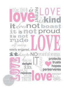 Love Scripture Print -