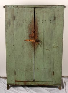 Primitive Wooden Food Cabinet.