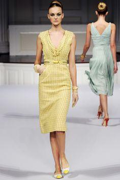 fashion weeks, la renta, runway fashion, renta spring, spring collection, summer chic, oscar de
