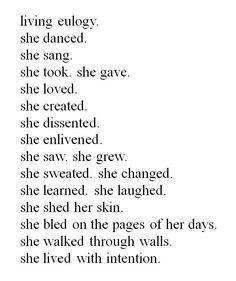She lived