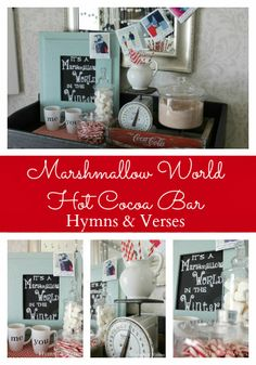 Valentine's Day Marshmallow World Hot Cocoa Bar