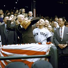 Eisenhower at a #Yankees game