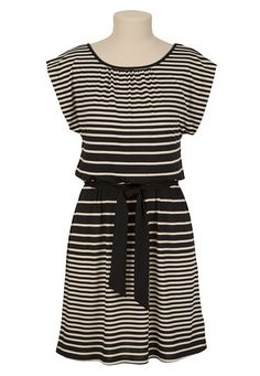 Stripe Tie Belt Knit Dress available at #Maurices
