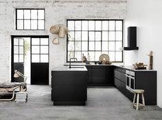 Rechte keuken zonder bovenkastjes