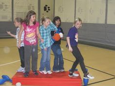 Mrs. Miller's Physical Education class: Pin Ball and Battleship