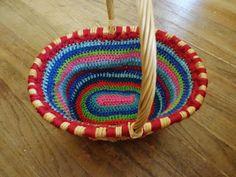 Free crochet pattern for oval basket liner bia Kashi's Corner