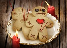 Voodoo Doll Cookies...love these! Great twist on the ol' Ginger Bread Man