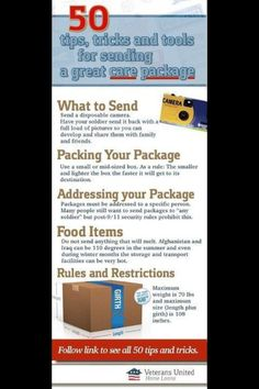 Deployment: care package tips.