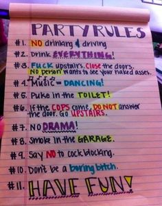 Party rules!