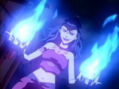 Hate Azula, but love her bending. SO MUCH BLUEEEE