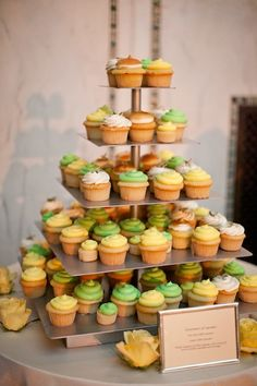 like how there are three colors. could be cute to have pink, orange and yellow cupcakes!