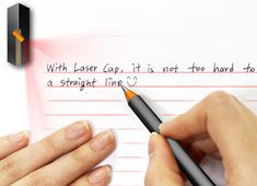 This ejects lines onto paper to keep your handwriting straight and uniform!