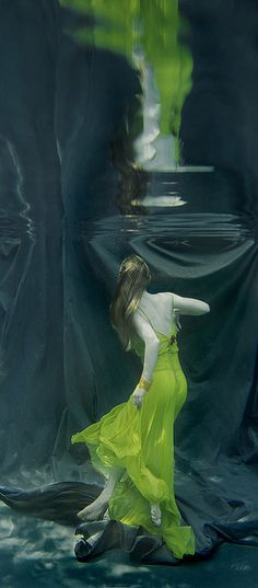 In Chartreuse . . . . just breathe... underwater photography (more @ boards here :  http://pinterest.com/fra411)