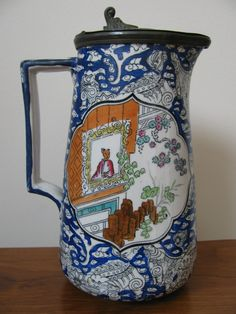 Antique English Chinoiserie Syrup Pitcher