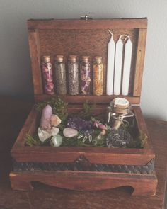 hedge witchcraft, altar, witchi, boxes, wicca