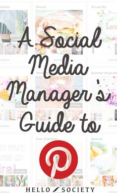 A Social Media Manager's Guide to Pinterest... Very helpful!