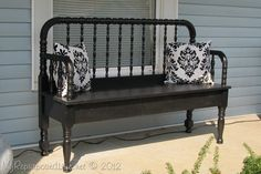 """My Repurposed Life DIY: Five Dollar Jenny Lind Bed to """"Jenny Lind Bench"""""""