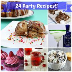 24 Party Recipes - Cocktails, Desserts & Appetizers. Round Up on The Tasty Fork