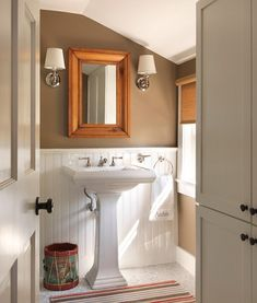 Elements Of A Stylish Contemporary Cottage Style Bathroom