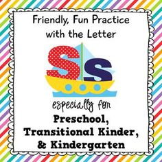 Practice with the Letter S - Perfect for Pre-K, Transition #alphabet #letteroftheweek #kindergarten