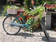 Great vintage bike garden