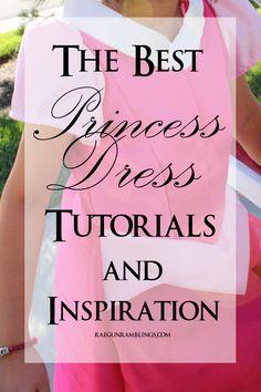 Super helpful list of tutorials for making princess dresses