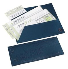 Dark embossed envelo