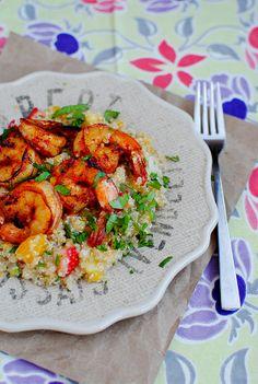 Shrimp with Caribbean Quinoa