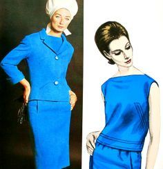 Vogue Patterns Counter Master Book Summer 1965  Tania Mallet is wearing a suit by Michael of London