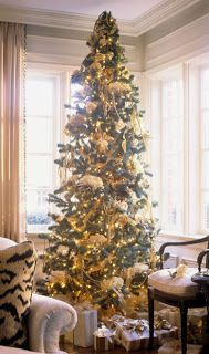 Christmas Tree -- Decorating With Ribbon
