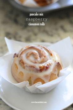 Pancake Mix Raspberry Cinnamon Rolls