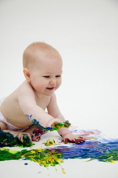 Baby Paint Shoot ? Love!  Soooooo doing this with the kids!