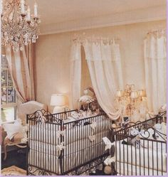 beautiful nursery for twins